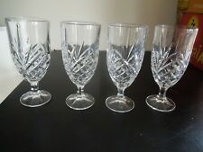 4 SHANNON  HAND CRAFTED GODINGER DUBLIN ICED TEA GLASSES (2 SETS AVAILABLE)