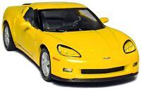 """5"""" Kinsmart 2007 Chevrolet Corvette Z06 Diecast Model Toy Car 1:36 Chevy Yellow"""