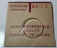 Verre de montre suisse bombé plexi diamètre 230 Watch crystal vintage *NOS*