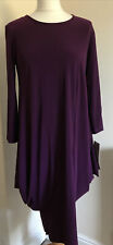 NINA LEONARD  Purple Dress Size M(12) Asymetric Hem/new With Tags