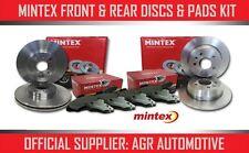 Mintex avant + arrière disques et plaquettes pour audi A3 cabriolet 1.6 td 2008-13