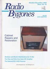 Radio Bygones No 85 Oct/Nov 2003 National NC-2-40S Cabinet RepairsCraggyCriggion