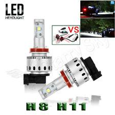 H11 LED Headlight High Power 6000K Conversion Kit HID Xenon White Low Beam Lamps
