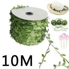 10M Garland Plant Artificial Leaf Vine Fake Green Flower Wreath Craft Home Decor