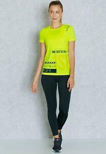 Reebok Womens One Series Running Activchill Yellow T-Shirt (AX8949) XS S M   B71