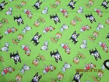Dog Days Tossed Dogs 100% Cotton New Adorable 1 Remnant Piece by 3 Wishes