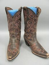 Ariat Shelleen Brown Leather Cowgirl Boots Sz 9.5 B