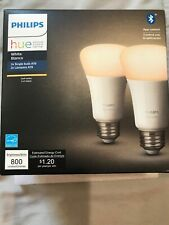 Philips A19 2 PACK  Hue White 60W  Dimmable LED Bulb ALEXA & APPLE NEW