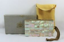 Vintage Evans Mother of Pearl Minaudiere Evening Bag Compact