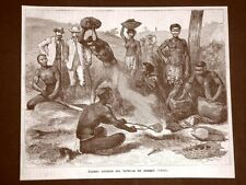 Sudafrica nel 1879 Fabbro Trubù dei Zulu o Zulù Nazione Ngoni Africa