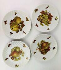 Mitterteich Old Nuremberg OLU3 Salad Plates FOUR 4 Bavaria Germany Fruits Swirl