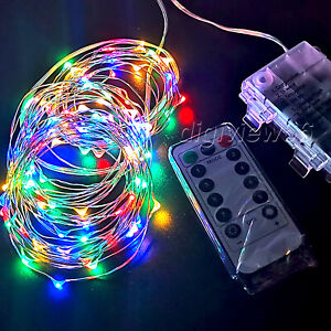 50/100/200LED Battery Micro Rice Wire Copper Fairy String Lights for Party Decor
