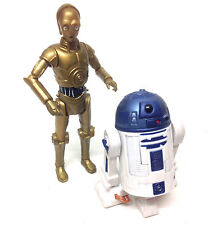 "STAR WARS Clone Wars style C3P0 & R2D2 droids figures 3.75"" action figure set"