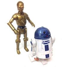 """STAR WARS Clone Wars style C3P0 & R2D2 droids figures 3.75"""" action figure set"""
