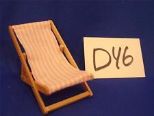 D46 VINTAGE MINI MINIATURE DOLLHOUSE FURNITURE DOLL FOLDING BEACH CHAIR