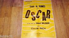 louis de funes OSCAR  !  affiche cinema  promo rare , vintage