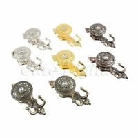 Curtain Hold Tieback Back Wall Hook Crystal Tassel decor Pothook Holder W/ Screw