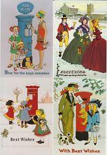 7 x Rosalind Wicks, Post Boxes, Bronte, Children, Teddy Bears, Postman & Women