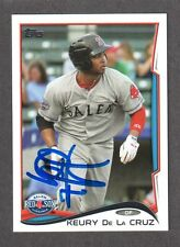 2014 TOPPS #70  Keury De La Cruz  BOSTON RED SOX  SIGNED AUTOGRAPH AUTO COA