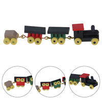 1Pc 1:12 Dollhouse Miniature Wooden Train Set Doll House Decor ToysEBB Pf