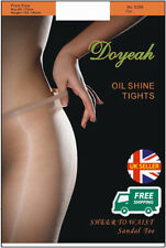 New Colours! Doyeah 10D High Glossy Sheer to Waist Tights Oil Shine Ultra Luxury