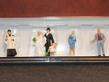 Preiser #10058 Bride Groom Wedding People Set HO Scale 1:87 Railroad Figures F52