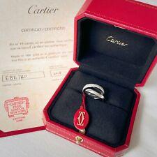 $6300 Cartier White Gold DIAMOND Trinity Love Ring Wedding Band Box Certificate