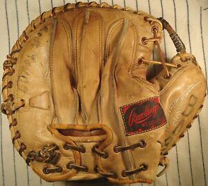 1940's top line Rawlings Walker Cooper WC baseball catchers mitt glove USA RH