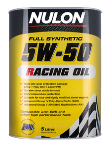 Nulon Racing Oil Full Synthetic 5W-50 5L NR5W50-5
