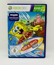 Spongebob Schwammkopf Surf & Skate Tour - Kinect Xbox 360 - Game & Disc wie neu