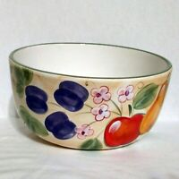 "Vintage Gibson Home Fruit Grove 10"" Salad Vegetable Serving Bowl Dish Pear Apple"