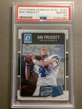2016 Donruss Optic DAK PRESCOTT #162 Rookie RC PSA 10 - Dallas Cowboys