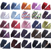 Fashion Men's Dot Style Wedding Tie Jacquard woven Silk Necktie Pocket Square