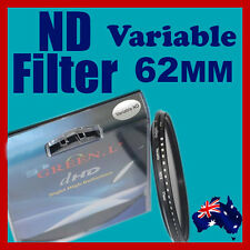 62mm Neutral Density ND filter adjustable variable ND2 to ND400 OZ stock