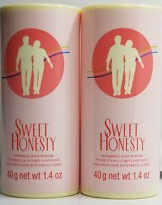 BUY-2-Avon SWEET HONESTY  Shimmering Body Powder 1.4 OZ 40g
