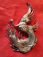 Stunning Vintage Taxco Fine Silver 980 Bird Brooch, JMD