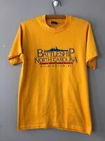 Vintage 80s SCREEN STARS Souvenir T Shirt NC Battleship Wilmington Sz M Medium