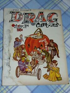"""OCT. 1964 """"DRAG CARTOONS"""" HOT ROD MAGAZINE: HALLOWEEN EDITION WITH MONSTERS"""