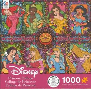 Disney Ceaco Jigsaw puzzle Princess Collage Stained Glass NIB