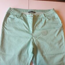 Bon Marche Mint Green Cropped Jean Trousers UK 18 Summer New Without Tags