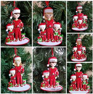 Personalised Christmas Tree Decoration Single Parent Mum / Dad One Parent Family