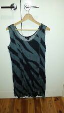 Tres belle black/charcoal long sleeveless tunic  Size 18 brand new with tags
