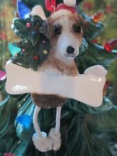 Jack Russell ~ Dangling Ornament #17
