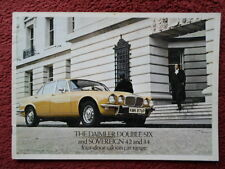 DAIMLER Double Six & Sovereign 4.2 3.4 4-Door Saloons orig 1975 UK Mkt brochure