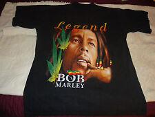 BOB MARLEY LEGEND BLACK SHORT SLEEVE XL T-SHIRT RASTAMAN LIGHTLY WORN
