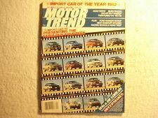 Motor Trend 1982 April Corvette Ford Ranger Abrams M1 tank Avatar Isuzu