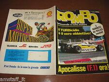 RIVISTA ROMBO 1982/7=ARNOUX RENAULT=PARIGI-DAKAR=VOLVO 760 GLE 3PAG=RALLY SVEZIA