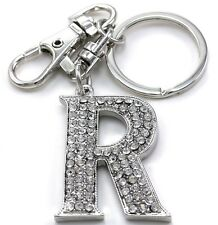 Clear Name Alphabet Initial Letter R Car Keychain Key Ring Wedding Gift Charm