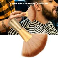 Salon Barber Neck Face Duster Soft Brush Hairdressing Hair Cutting Tools Gold