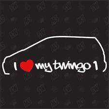 Amo mio Renault Twingo 1 - Tuning Adesivo, Shock, Auto Ventilatore Decalcomania